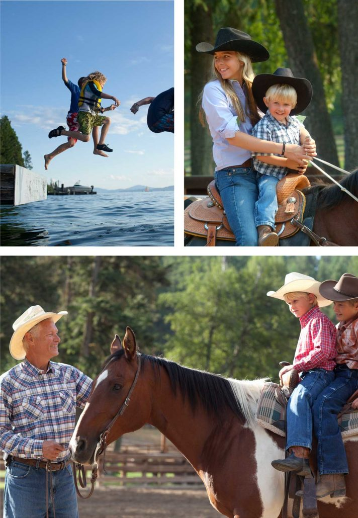 Dude Ranch family vacations - Flathead Lake Lodge