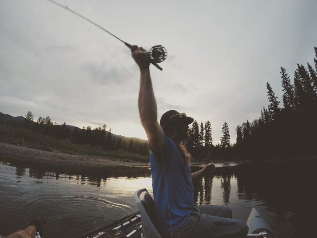 fly-fishing at Flathead Lake Lodge